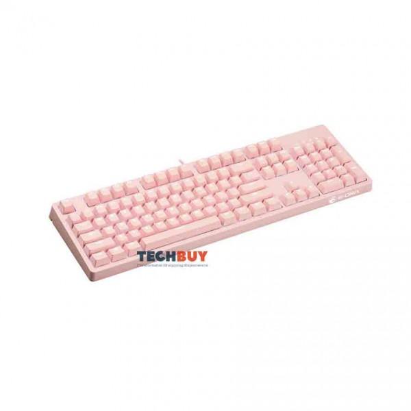 Bàn phím cơ chơi game E-DRA EK3104 Dream Pink, White Led, Blue Switch