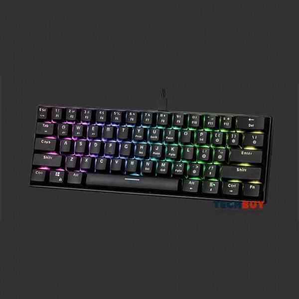 Bàn phím cơ Bluetooth E-Dra EK361W RGB, Black, Red/Blue/Brown Switch