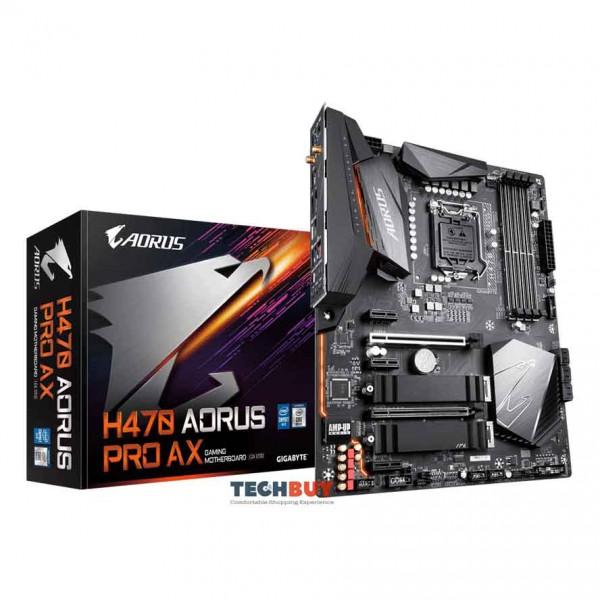 Mainboard Gigabyte H470 AORUS PRO AX (Intel H470, Socket LGA1200, ATX, 4 khe Ram DDR4, Bluetooth 5.1)