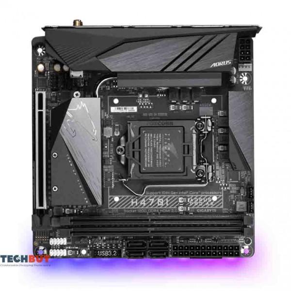 Mainboard Gigabyte H470I AORUS PRO AX (Intel H470, Socket LGA1200, mini-ITX, 4 khe Ram DDR4, Bluetooth 5.1)