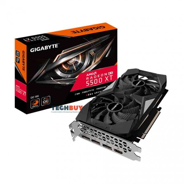 VGA GIGABYTE Radeon™ RX 5500 XT OC 8G(GV-R55XTOC-8GD) 8