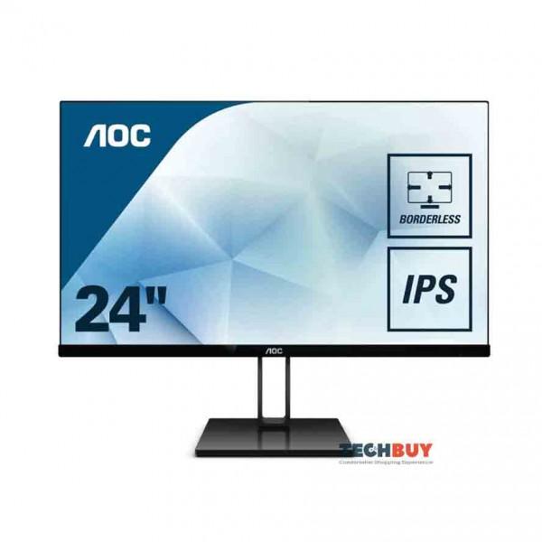 Màn hình AOC 24V2Q (23.8 inchLEDIPS75Hz250cdm²DP+HDMI5ms)