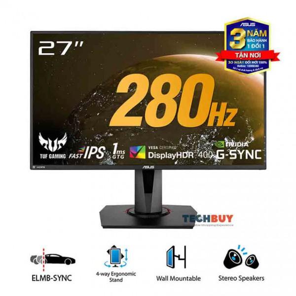 Màn hình ASUS TUF GAMING VG279QM(27 inchFHD280Hz1msG-Sync CompatibleDisplayHDR 400)