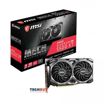 Card màn hình MSI RX 5500 XT MECH OC (8GB GDDR6, 128-bit, HDMI+DP, 1x8-pin)