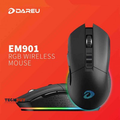 Chuột Gaming Dareu EM901 RGB LED Wireless Black