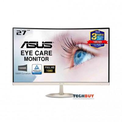 Màn hình Asus VZ27VQ (27 inchFHDIPS250 cdm²DP+HDMI+VGA60Hz5 msMàn hình cong)