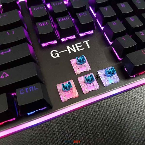 Bàn phím giả cơ G-NET K88 chuyên game led RGB